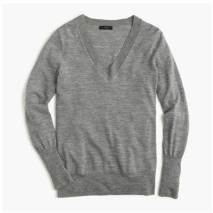 J. Crew Merino Wool V-Neck Sweater